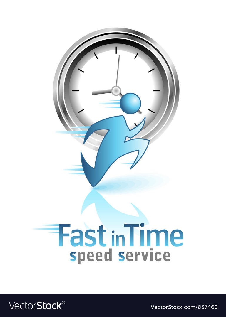 Fast in Time Social icon vector image