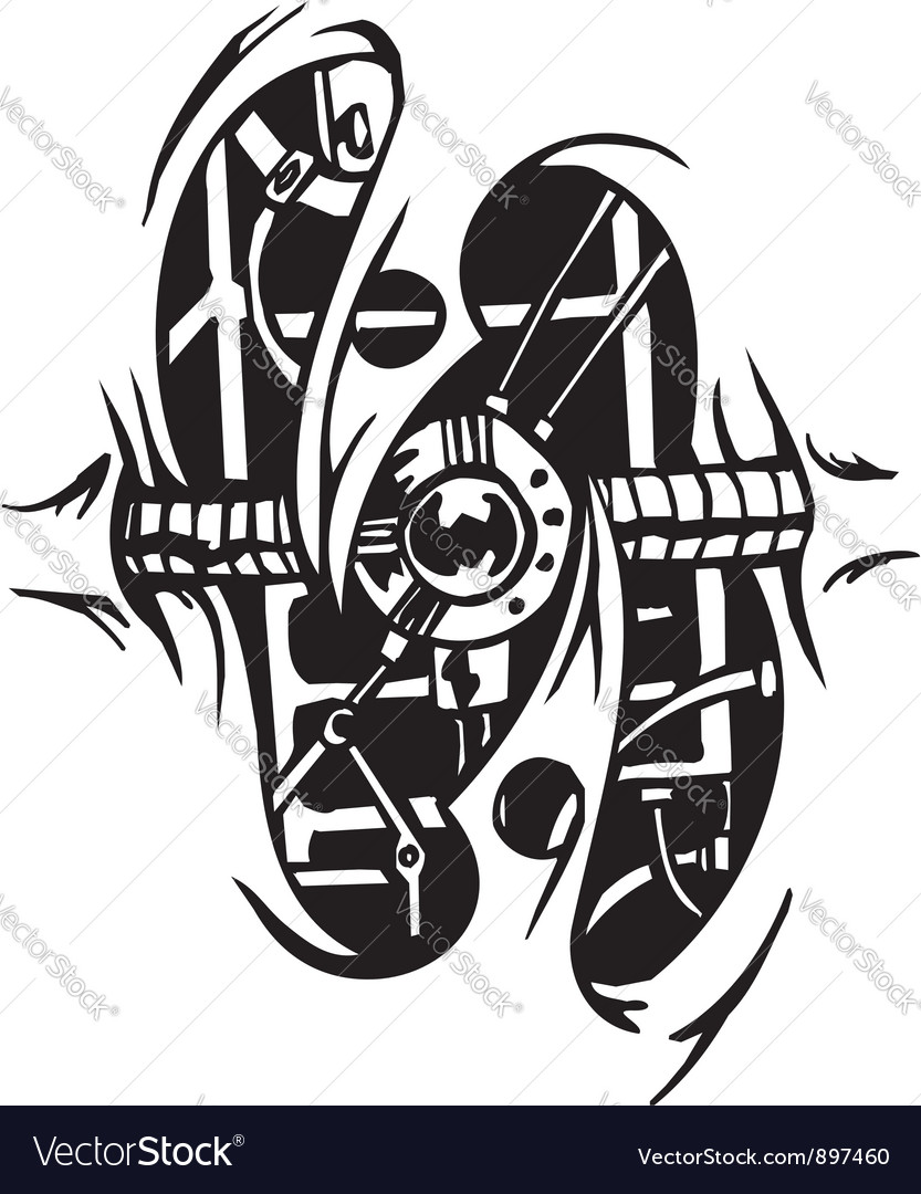 Biomechanical Designs - vector image