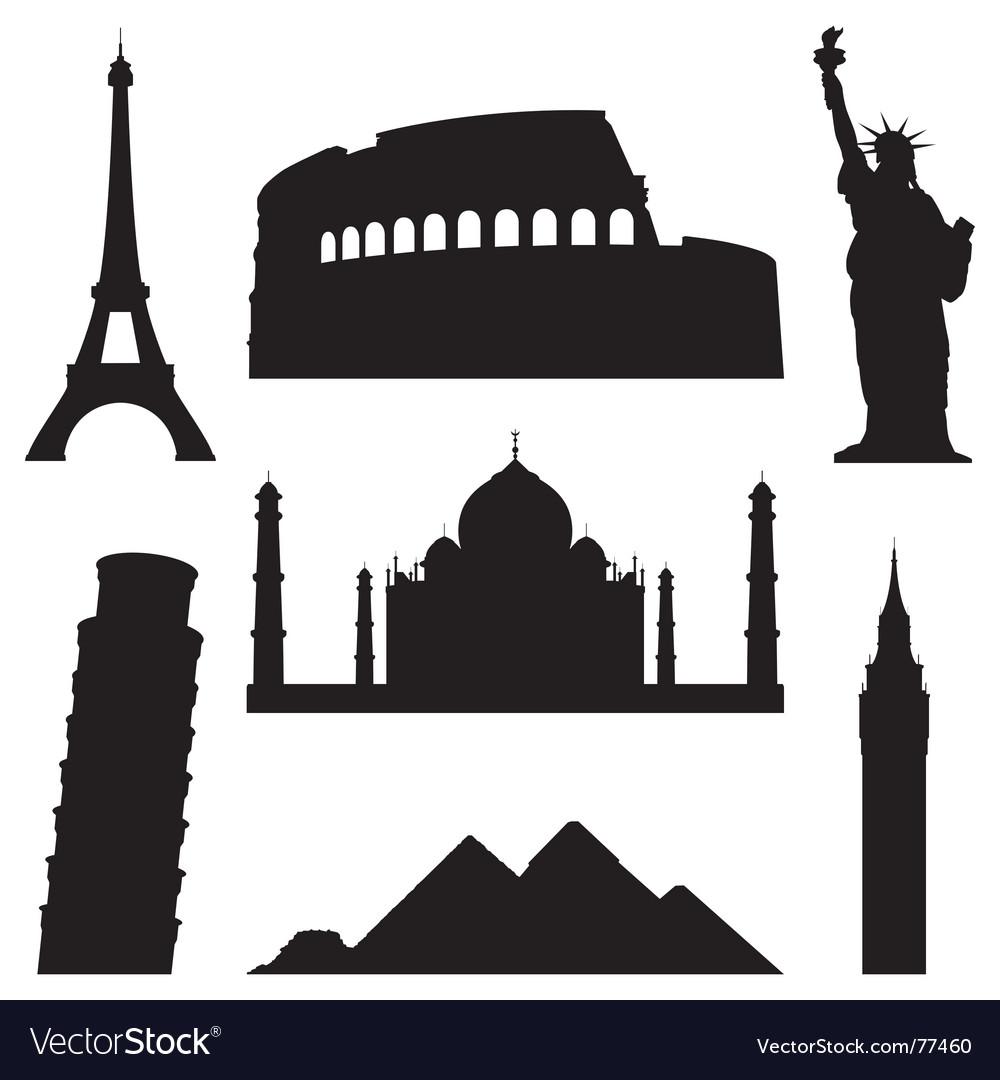 Landmarks vector image