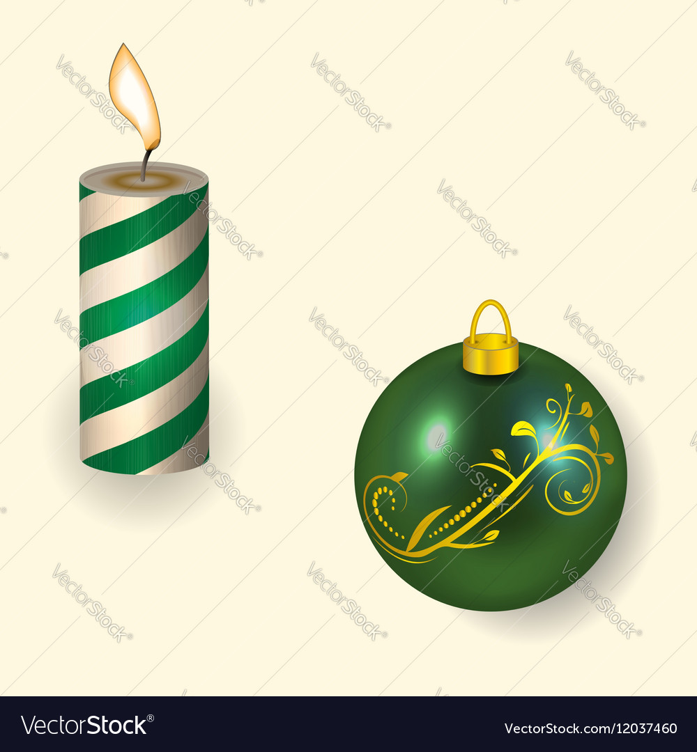The Christmas candle and vector image