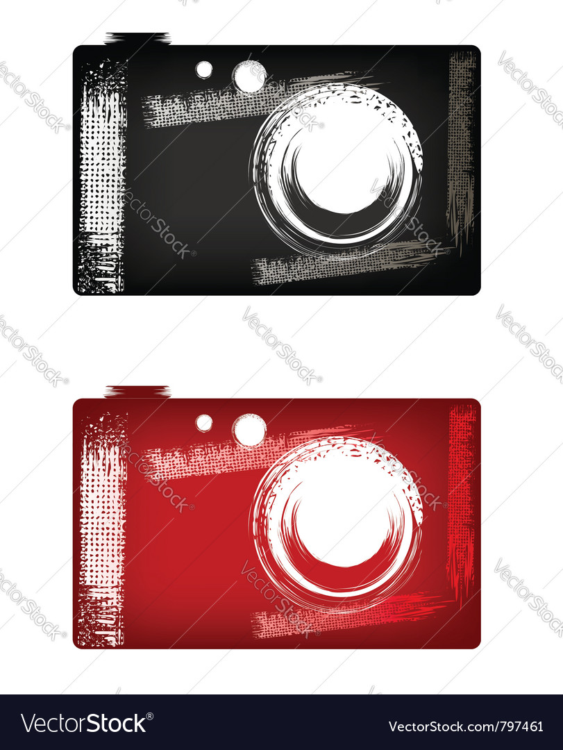 Grunge digital camera vector image