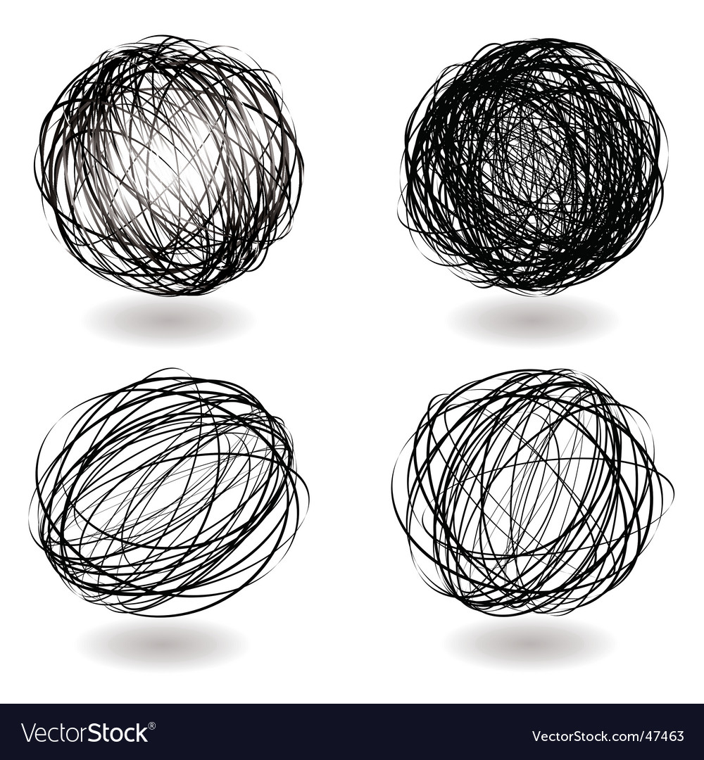 Scribble nest variation vector image