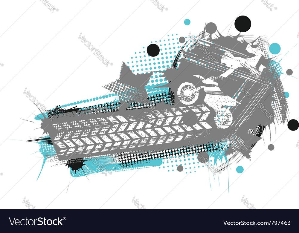 Motocross grunge poster vector image