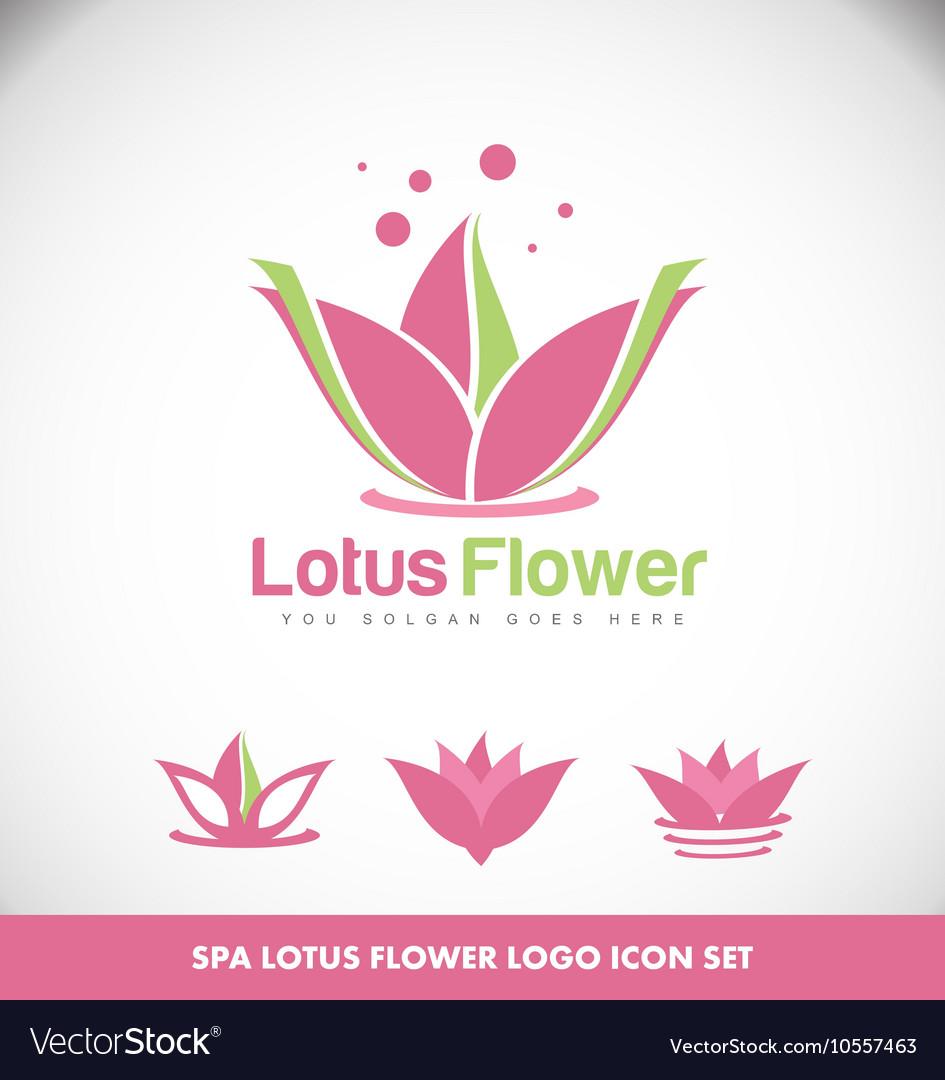 Lotus flower spa logo royalty free vector image lotus flower spa logo vector image izmirmasajfo Gallery