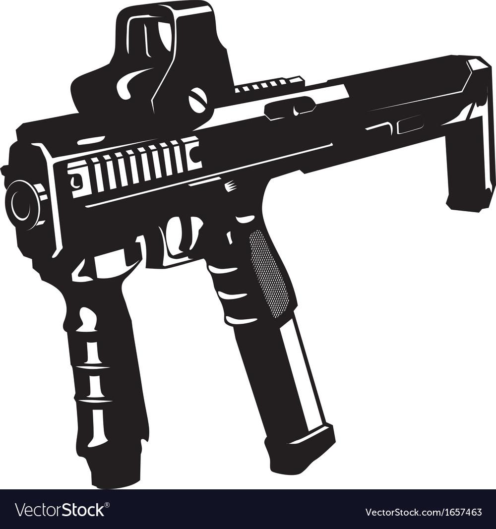 machine gun with barbed wire and ribbon royalty free vector rh vectorstock com vector gunbroker chris vector gun