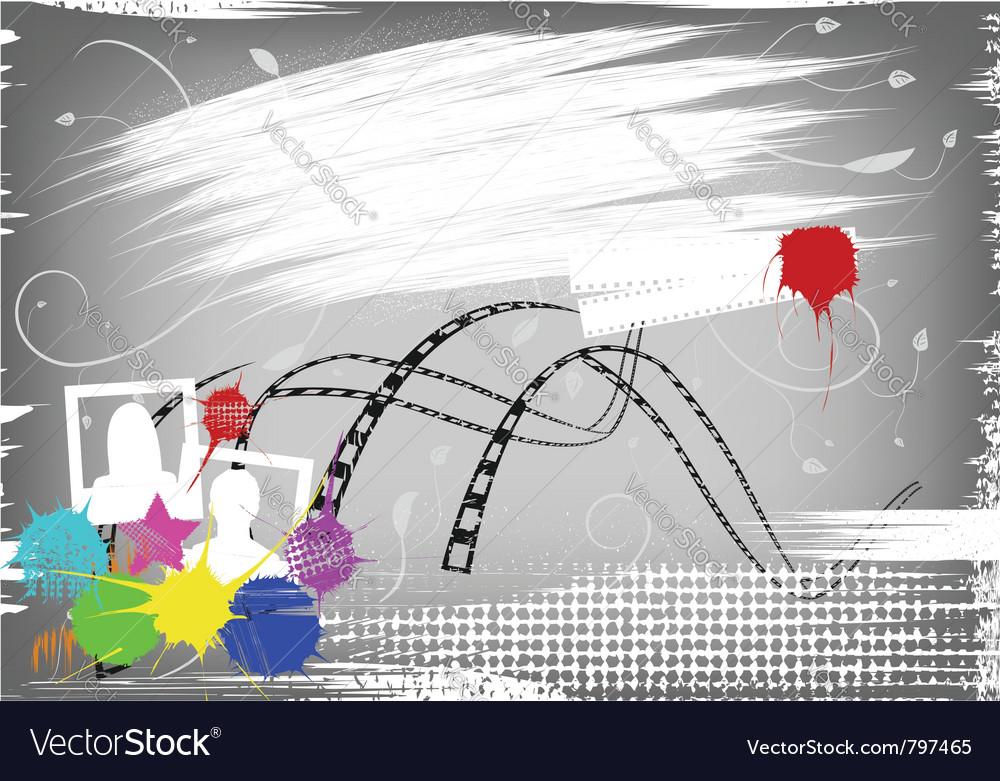 Film grunge background vector image