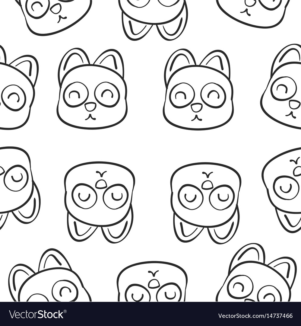 Hand draw of animal doodle style vector image