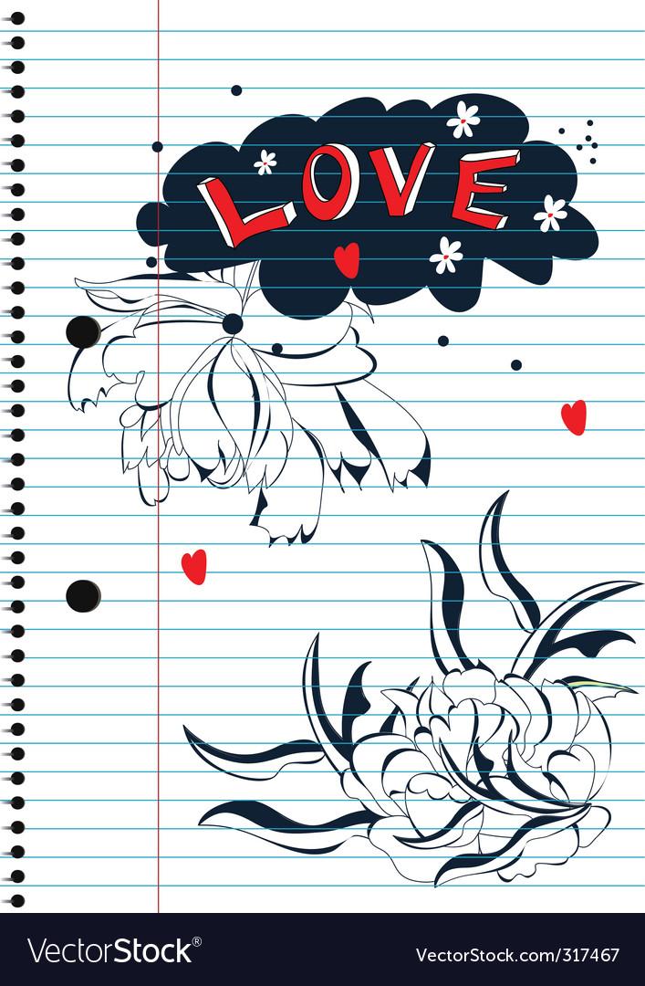 Love sketch vector image
