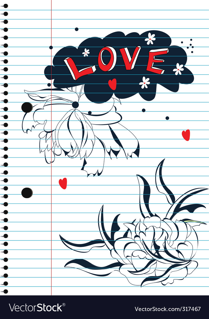 Love sketch vector image