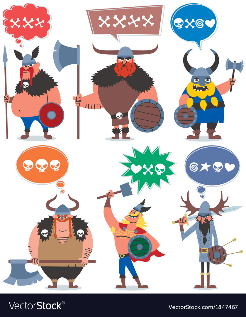 Vikings vector image