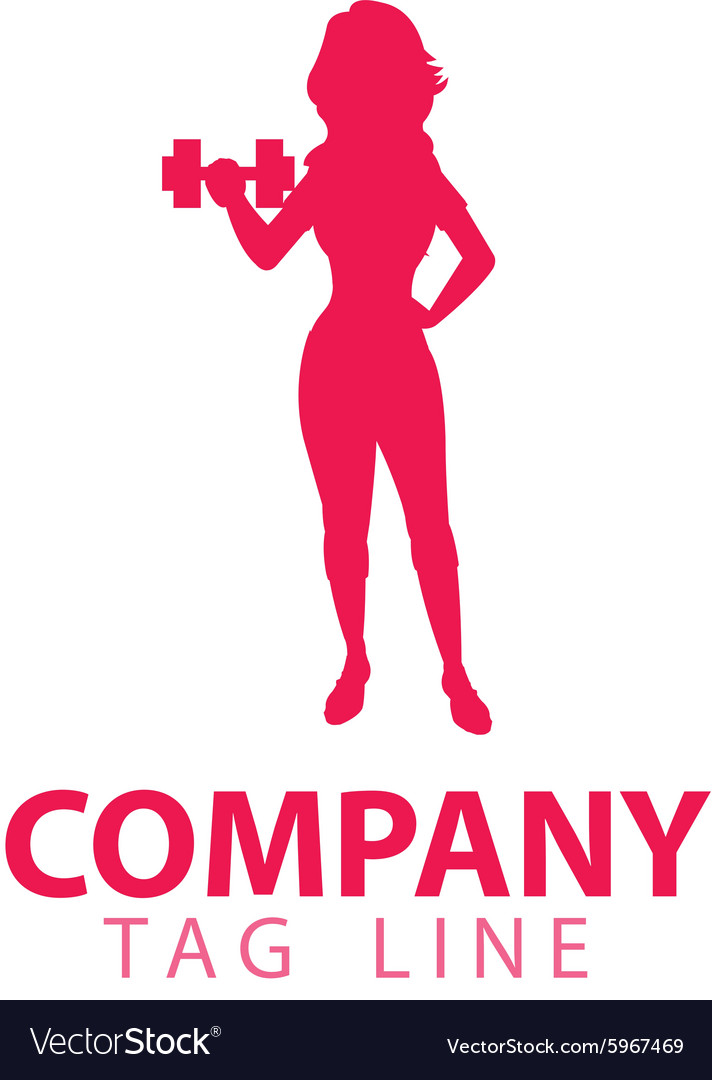Female Fitness Logo vector image