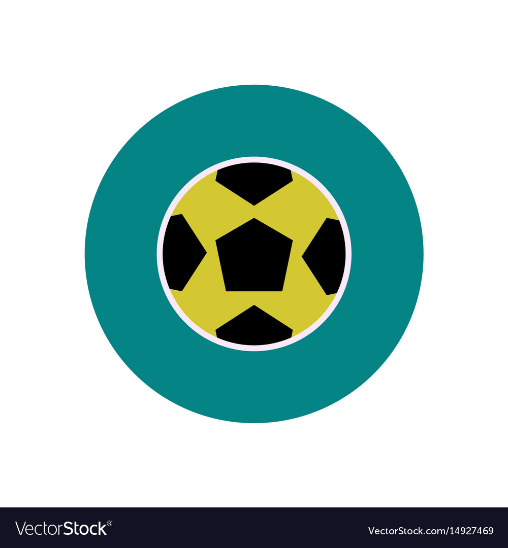 Stylish icon in color circle soccer ball