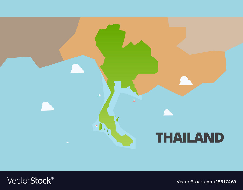 Thailand green map is fully royalty free vector image thailand green map is fully vector image gumiabroncs Images