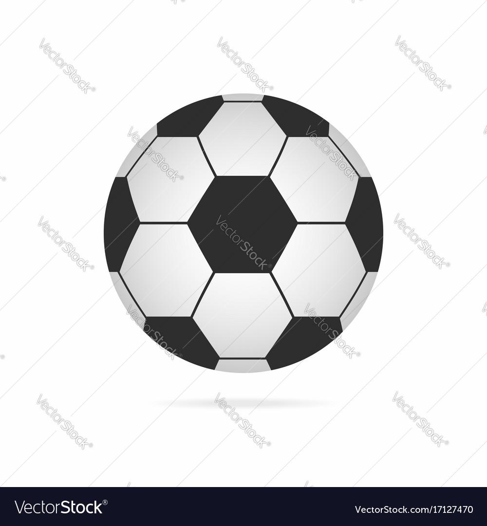 Football ball soccer ball icon with shadow vector image