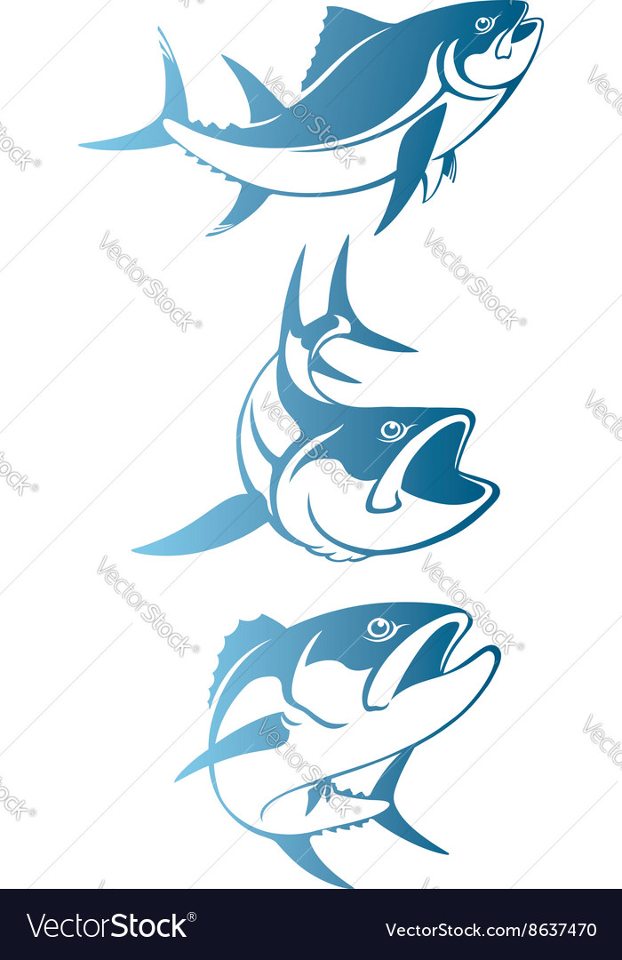 Tuna logo vector image