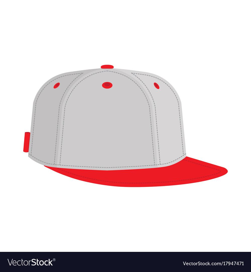 Hip hop or rapper baseball cap vector image