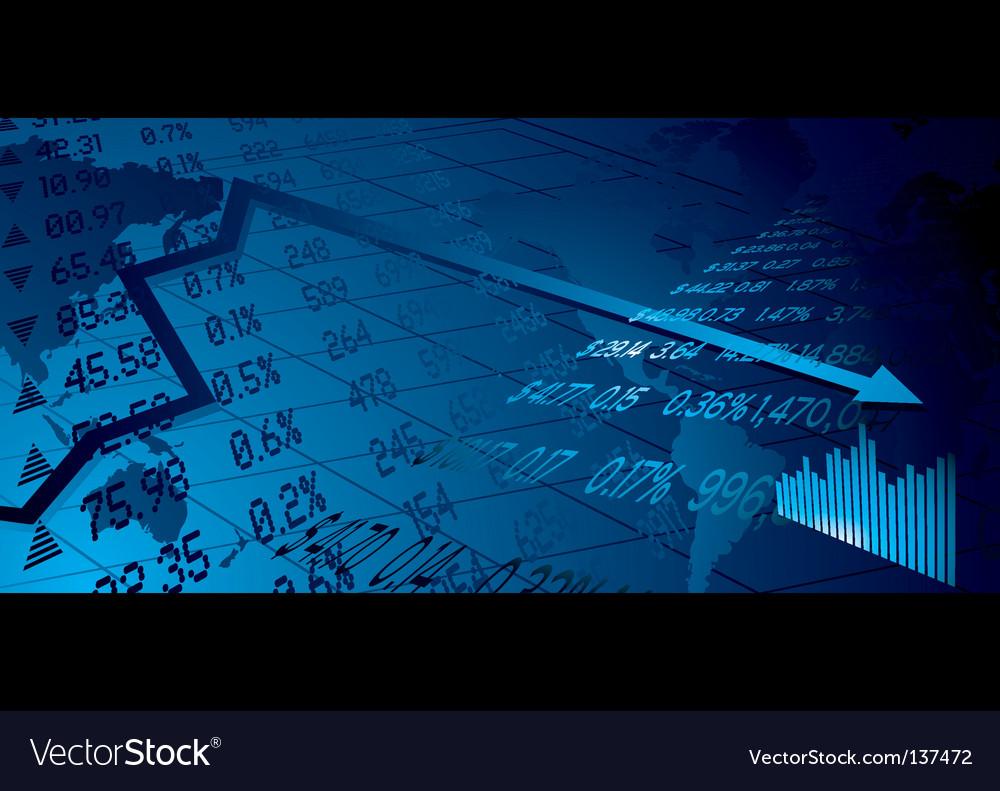 Stock market background vector image