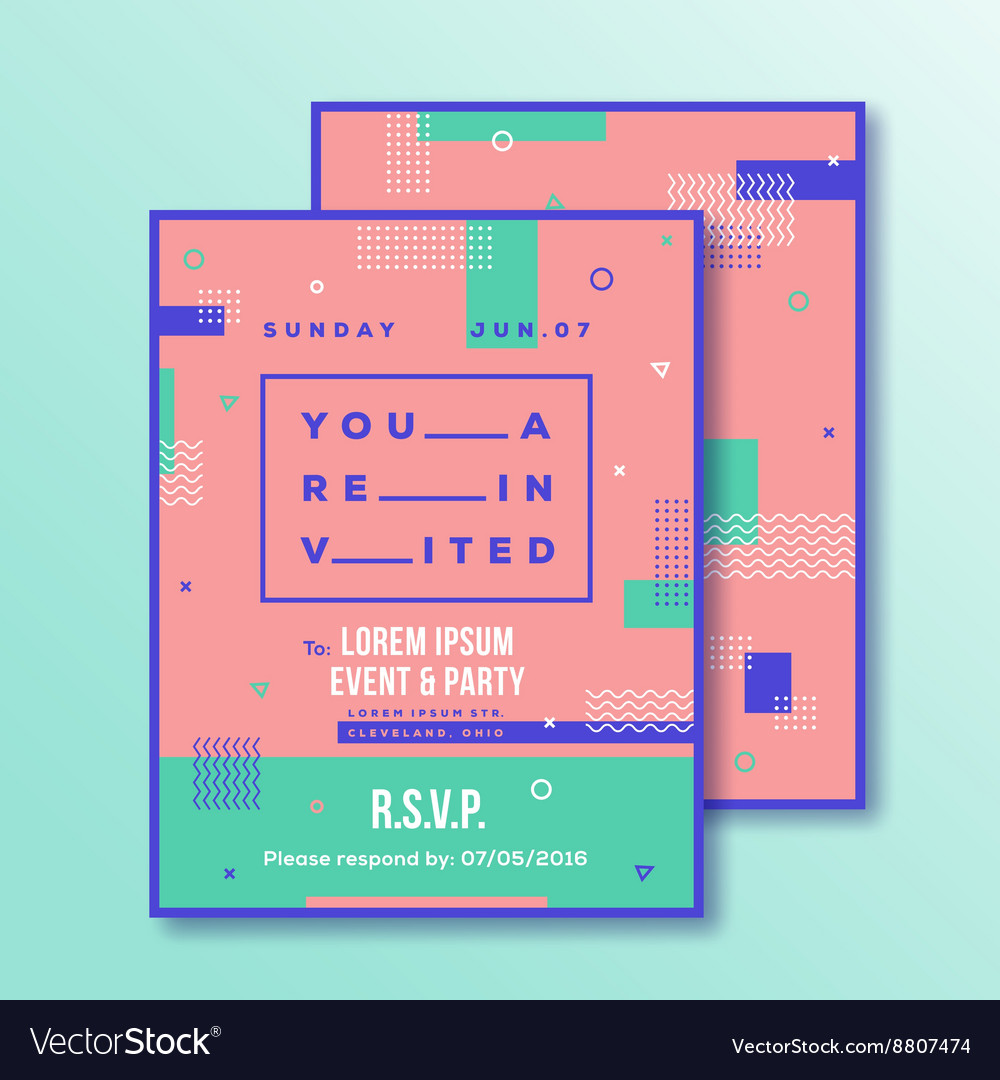 Event party invitation card template modern vector image stopboris Images