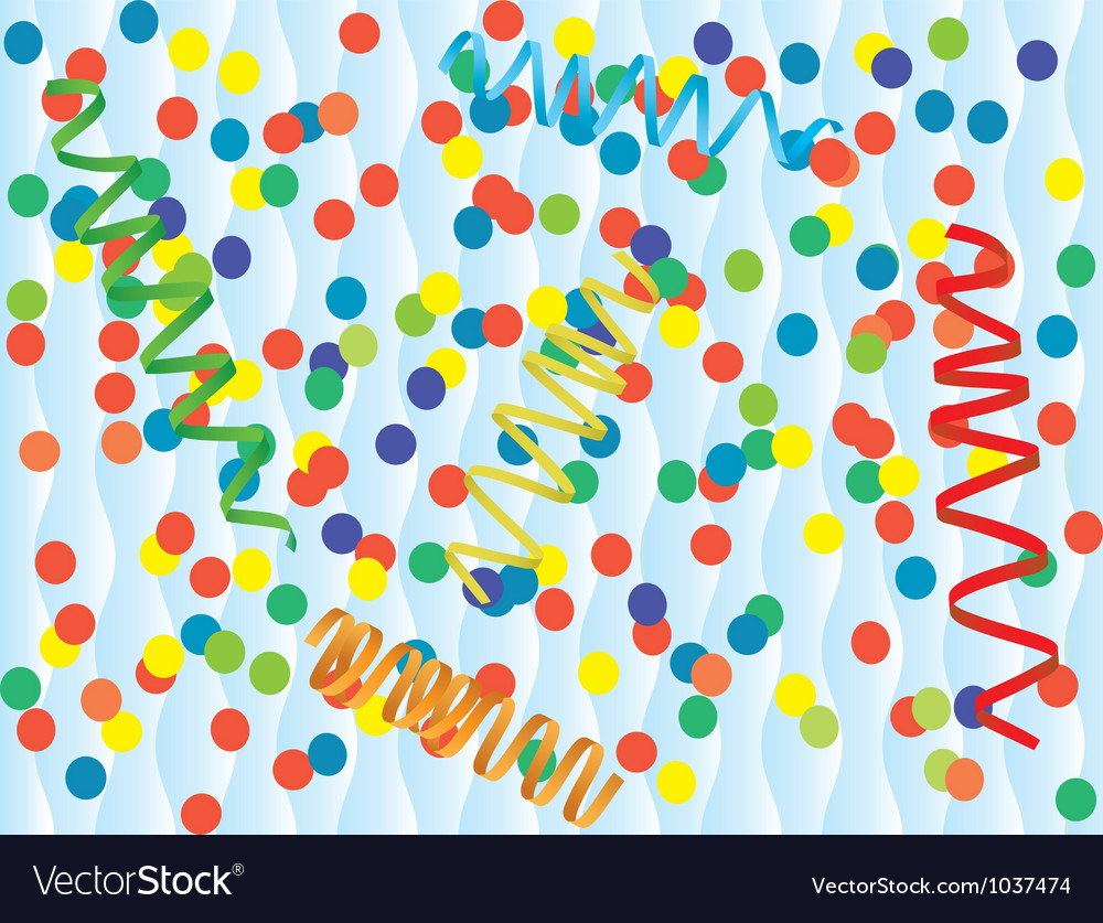 Paper streamer and confetti vector image