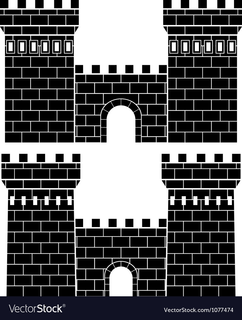 Two gates vector image
