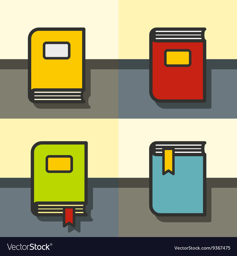 Book on the table in flat style vector image