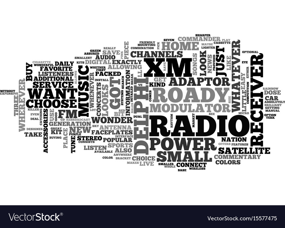 What are the features of delphi xm roady radio vector image