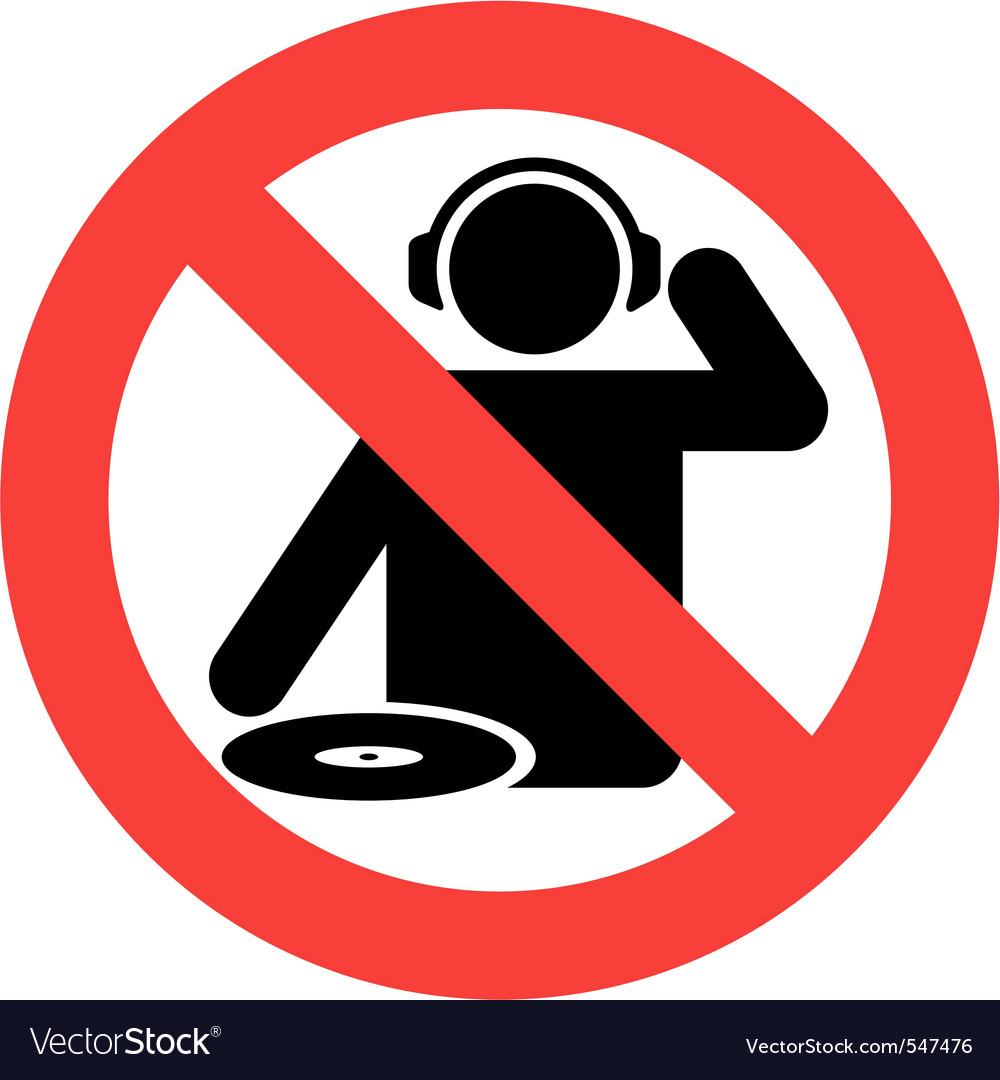 No dj zone vector image