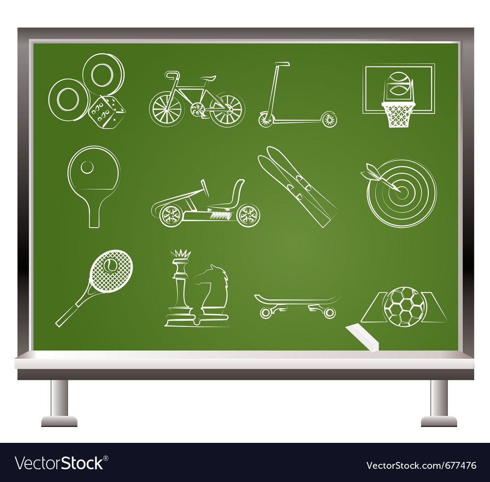 Sports equipment icons vector image