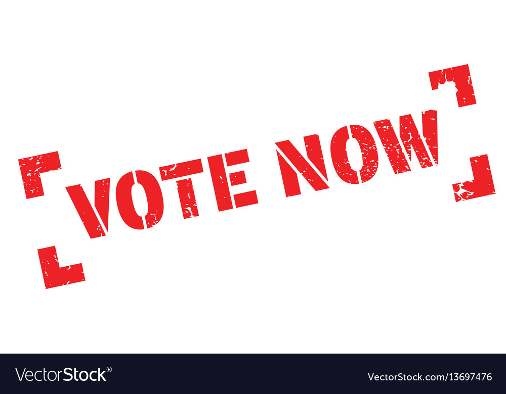 Vote now rubber stamp vector image