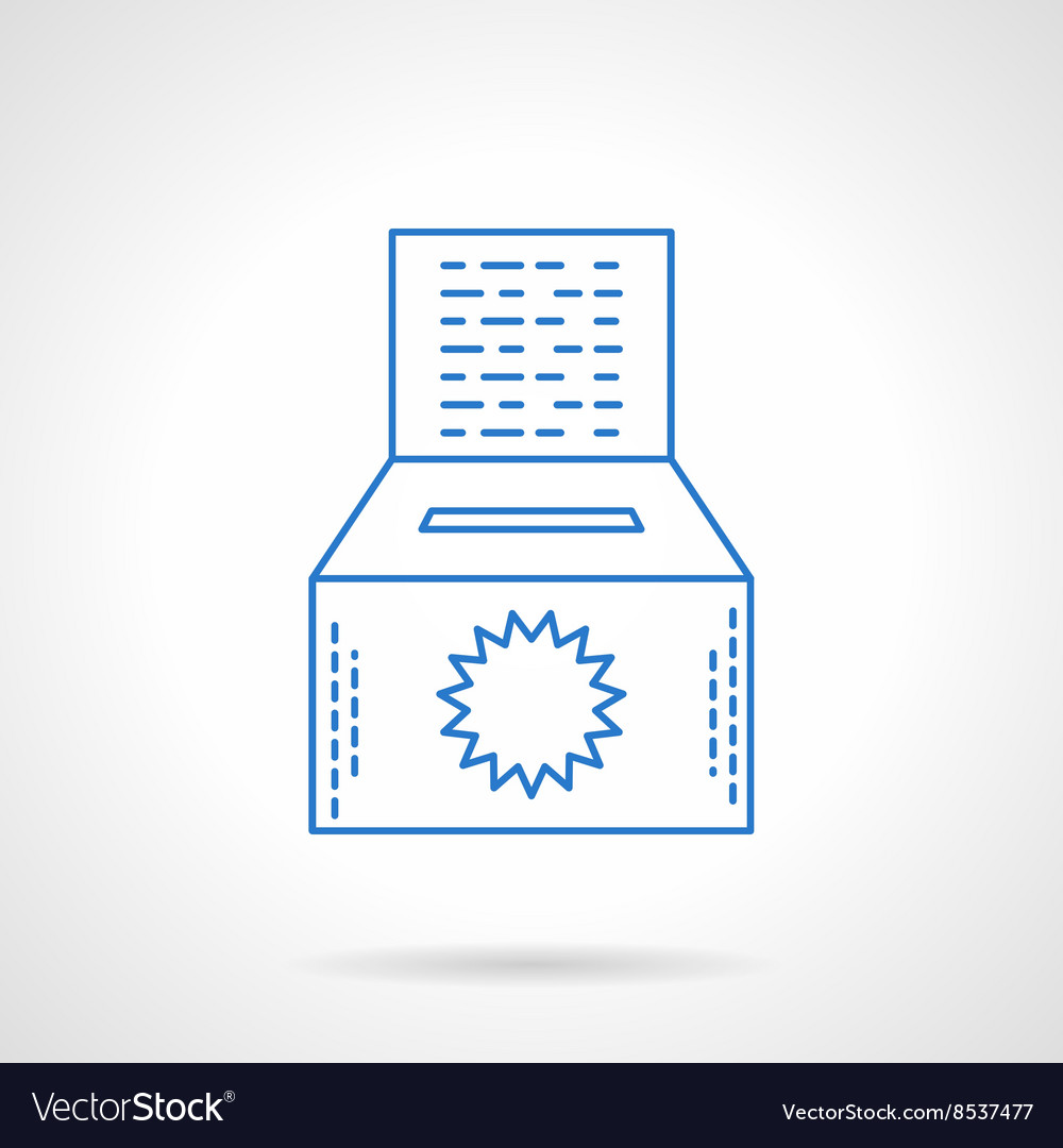 Ecology donations flat line icon vector image