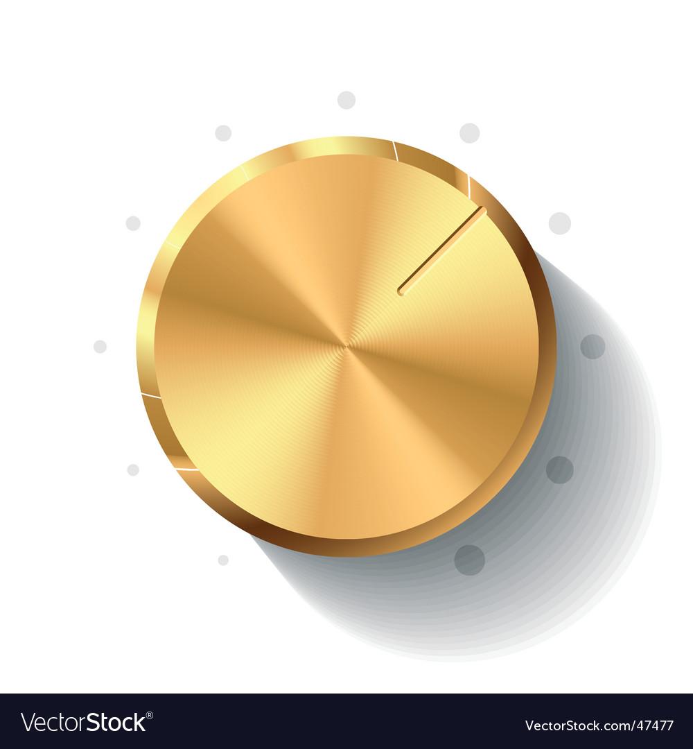 Volume knob vector image