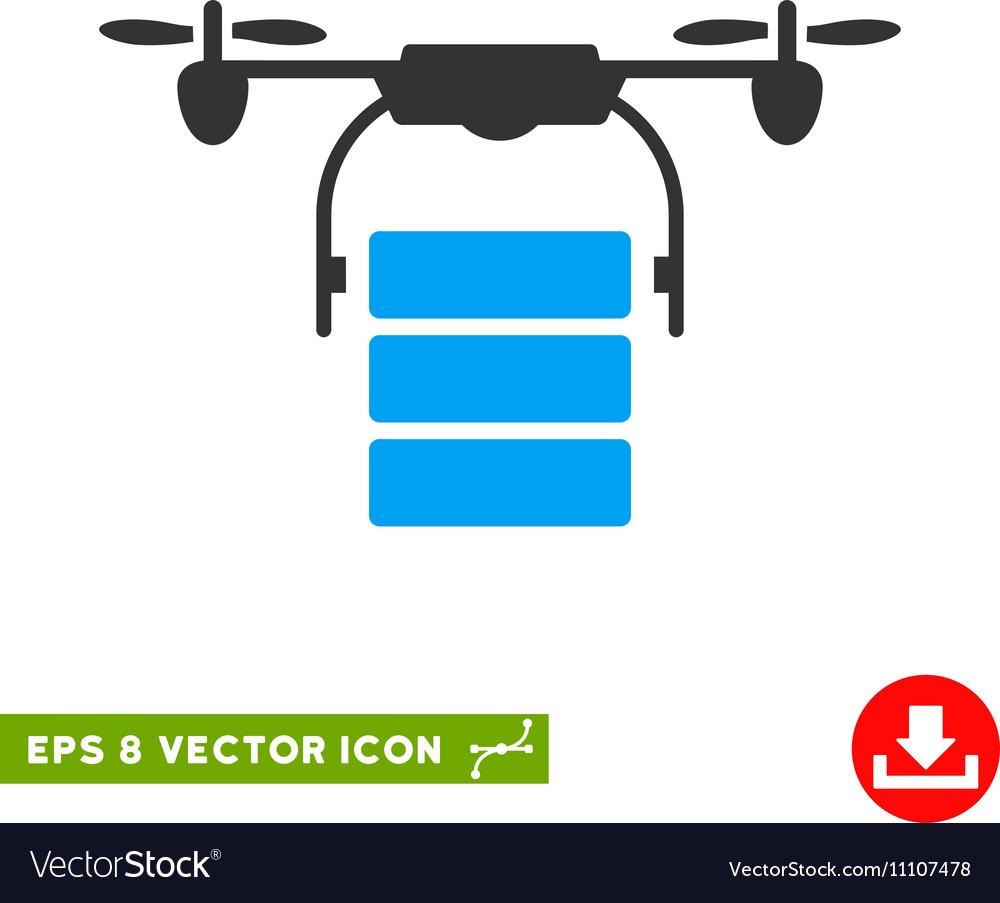 Cargo Drone Eps Icon vector image