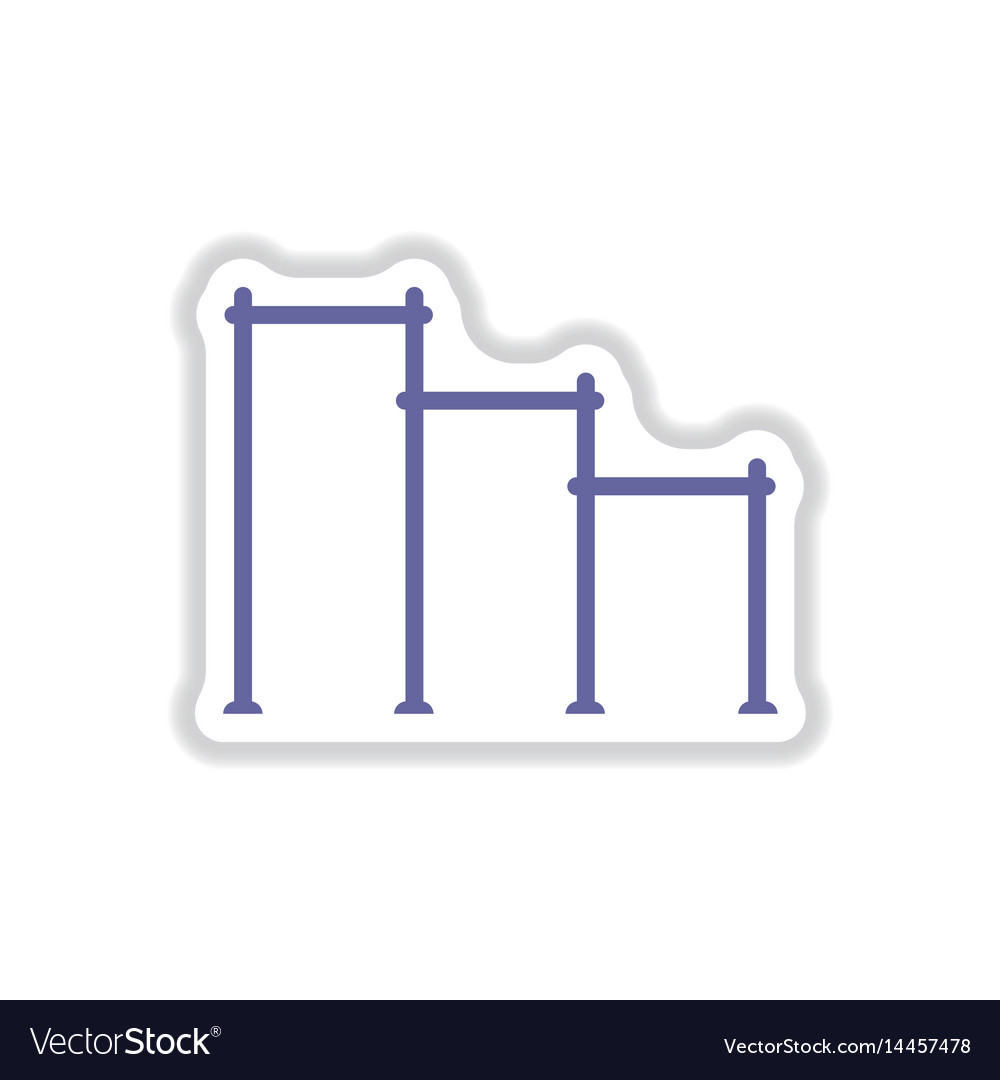 gymnastics rings and ladder icon flat style