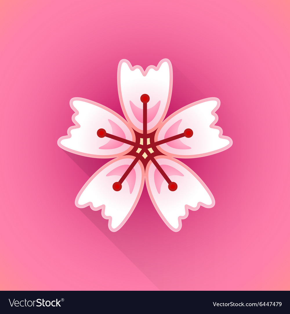 Flat abstract sakura flower icon royalty free vector image flat abstract sakura flower icon vector image dhlflorist Images