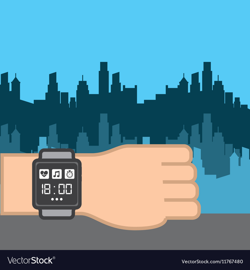 Sport smart watch icon vector image
