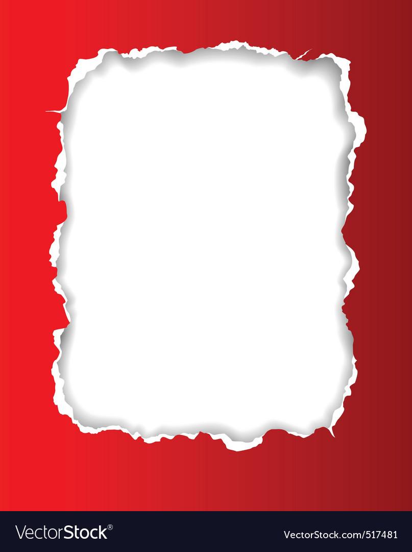 Torn paper frame vector image