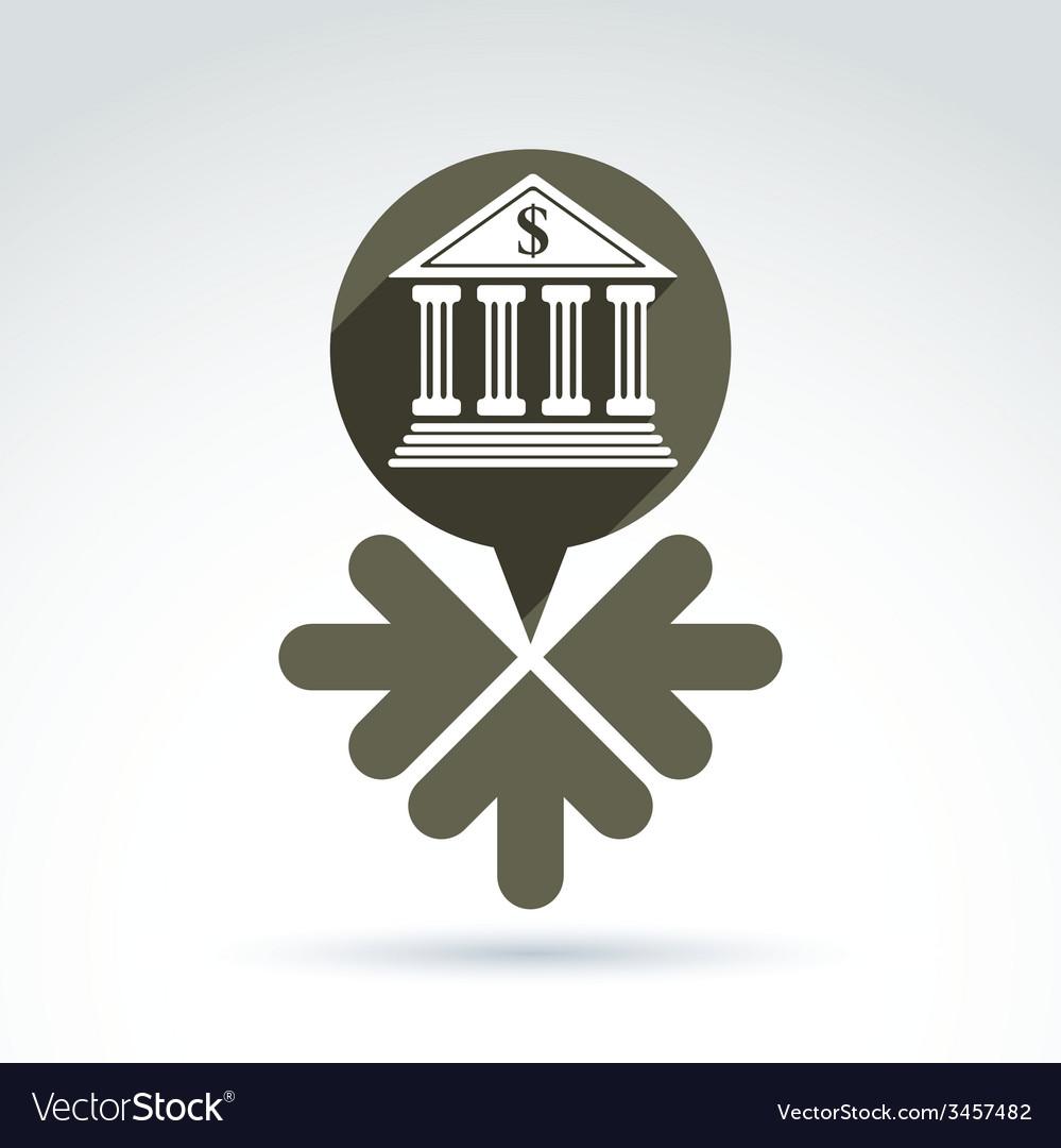 Banking symbol revenue sources concept speech vector image banking symbol revenue sources concept speech vector image buycottarizona Image collections