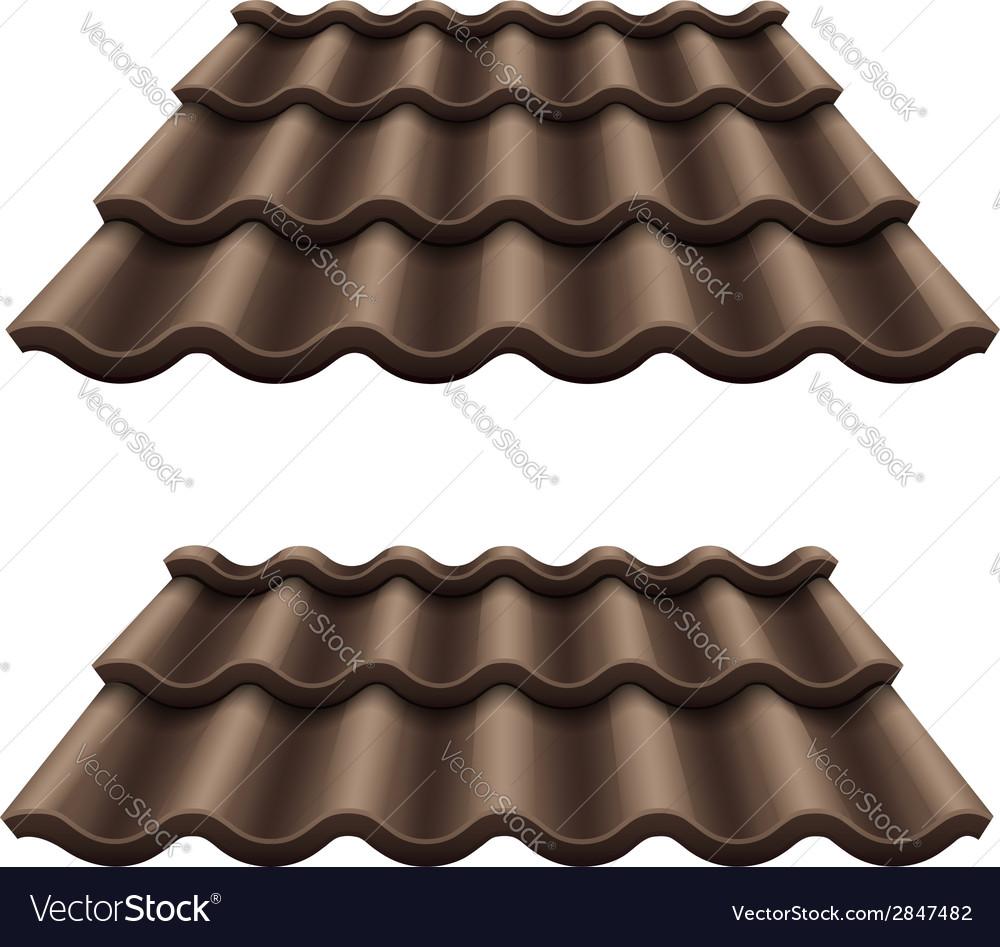 Dark chocolate corrugated vector image