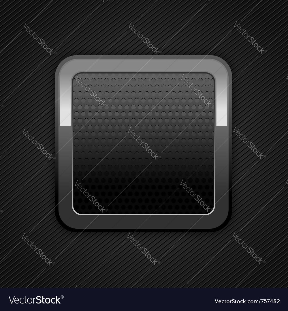 Metal web button vector image