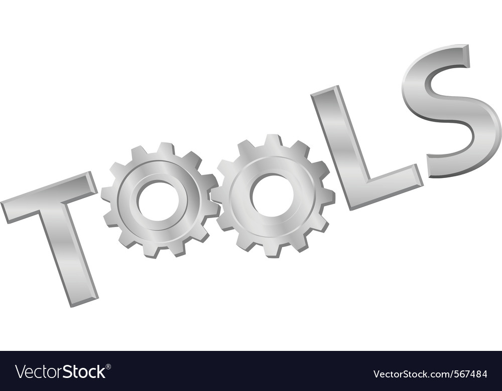 Shiny metal gears vector image