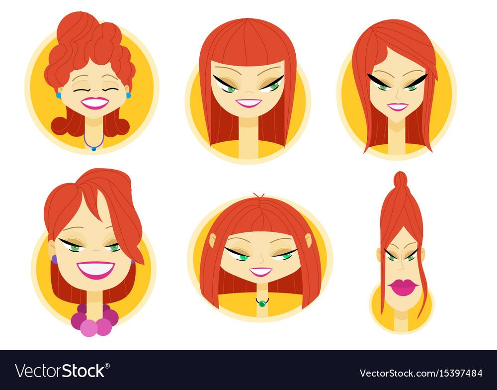 Woman avatar part three vector image