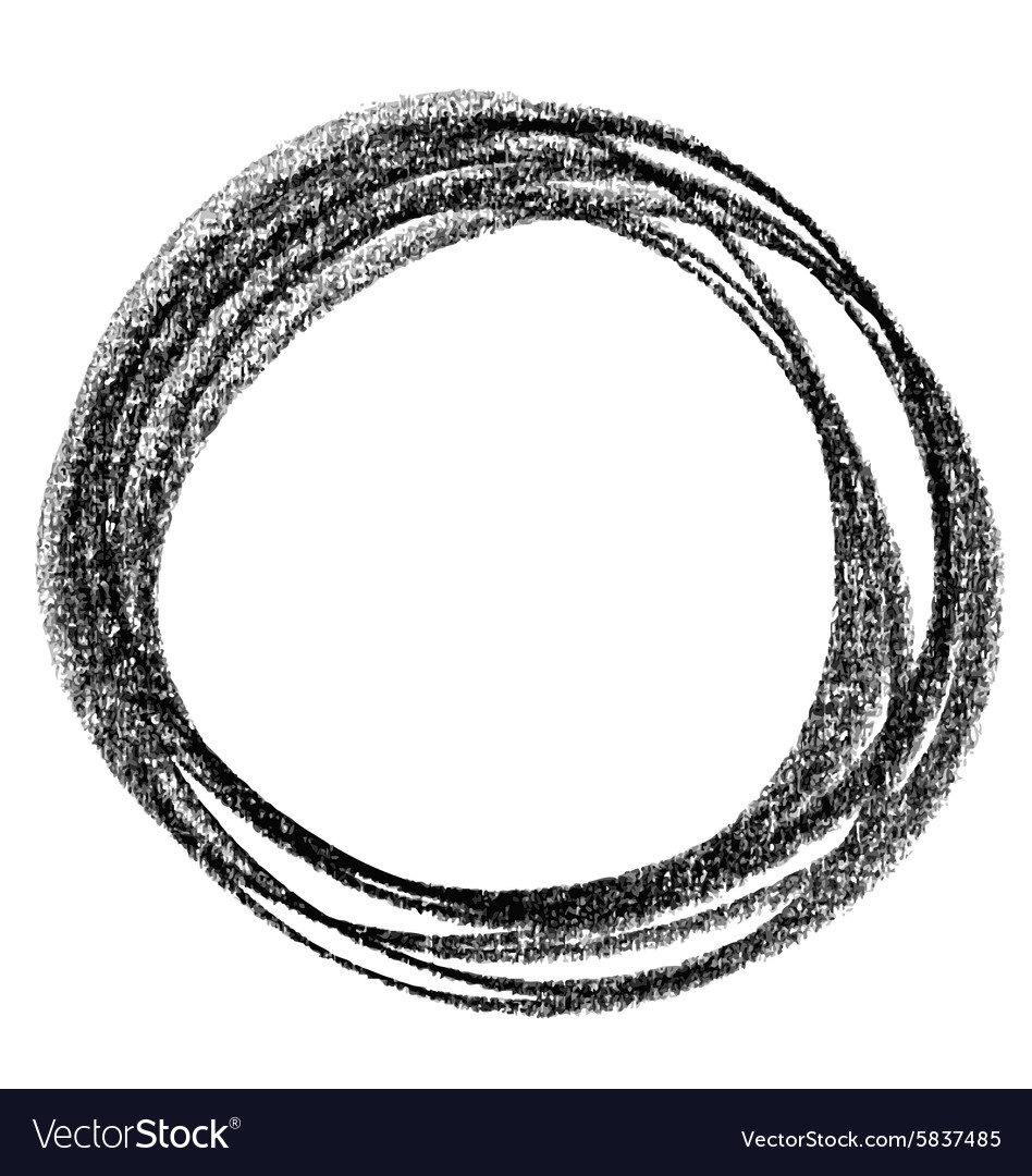 Circle doodle 02 vector image