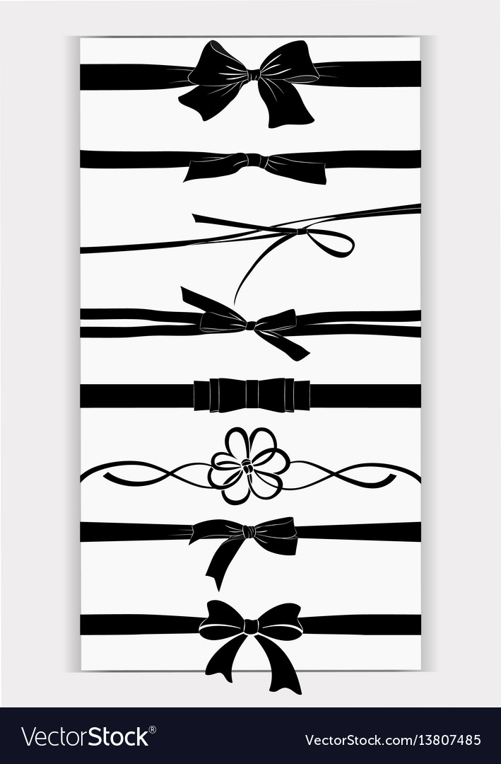 Set of tied bows vector image