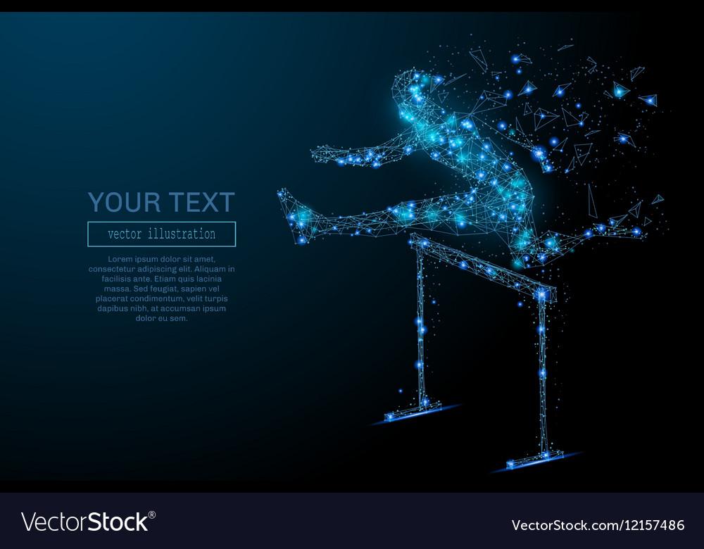 Steeplechase blue hurdling vector image