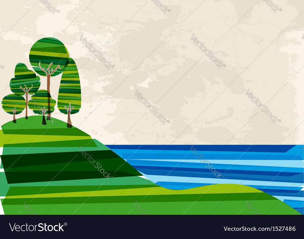 Tree forest meadow vector image