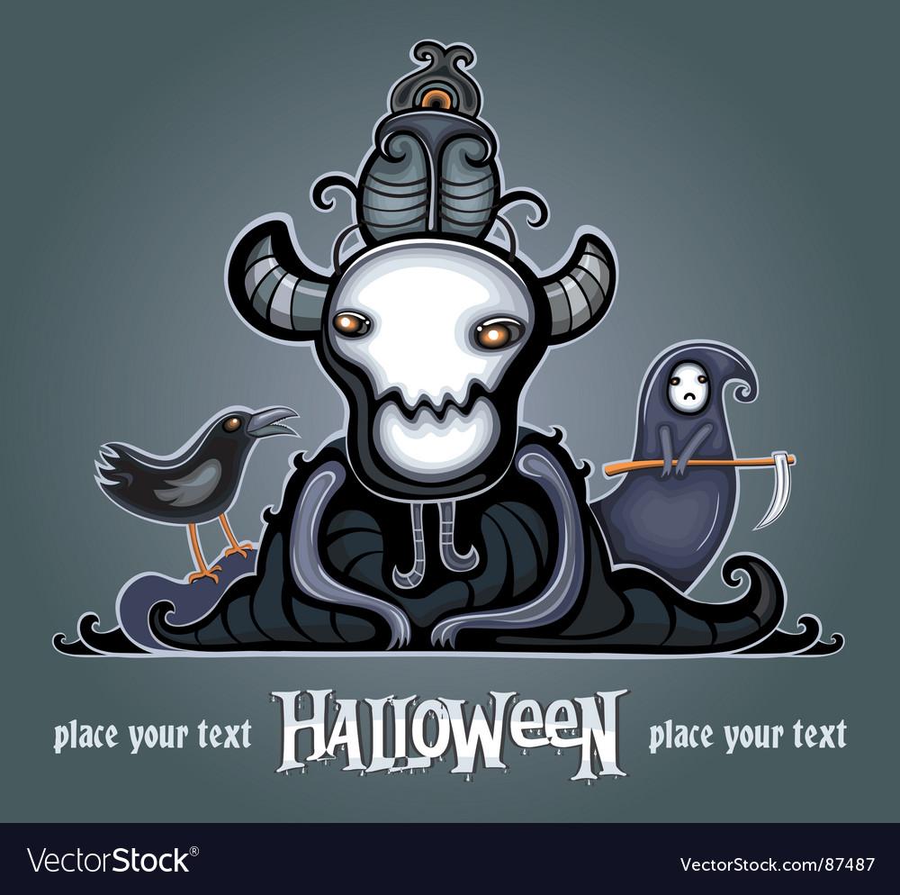 Dark lord vector image