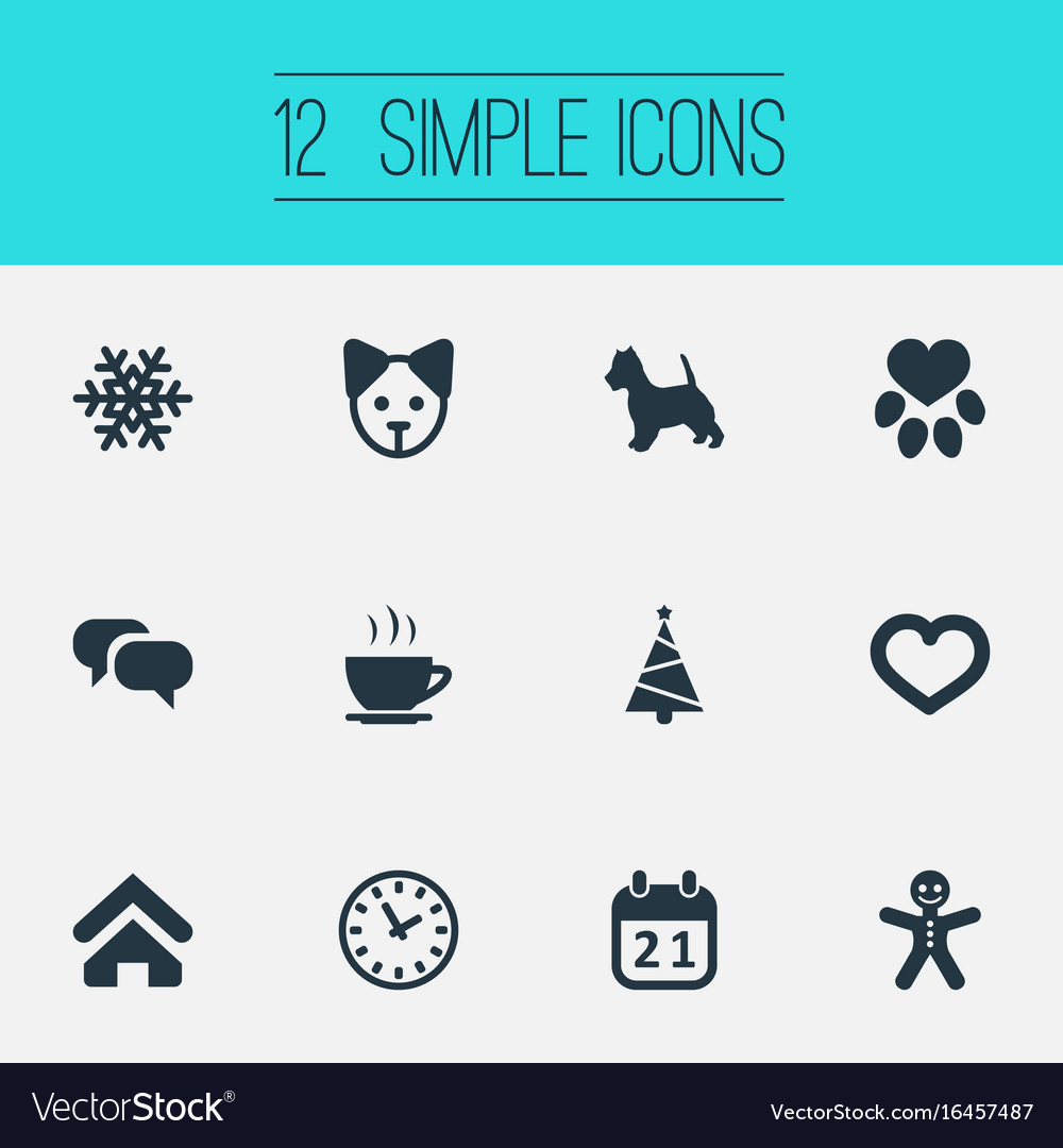 Set of simple house icons vector image