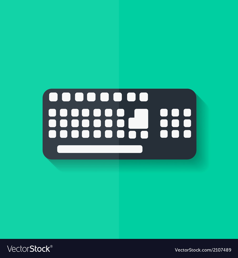 Computer keyboard web icon Flat design vector image