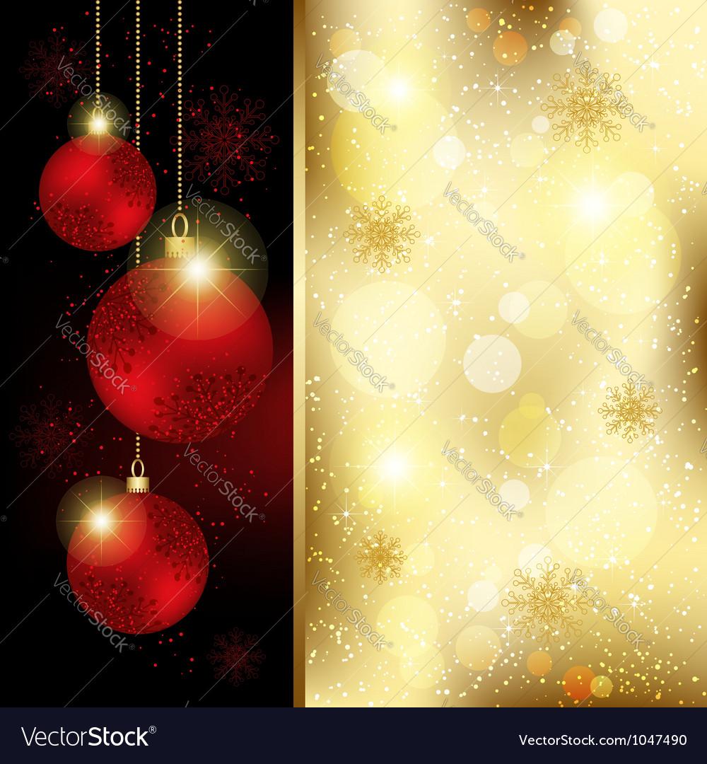 Christmas Crystal Ball Greeting Card vector image