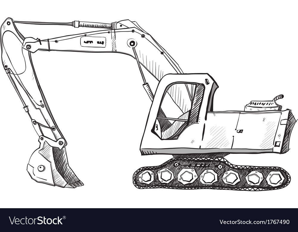 List of Synonyms and Antonyms of the Word: excavator drawing